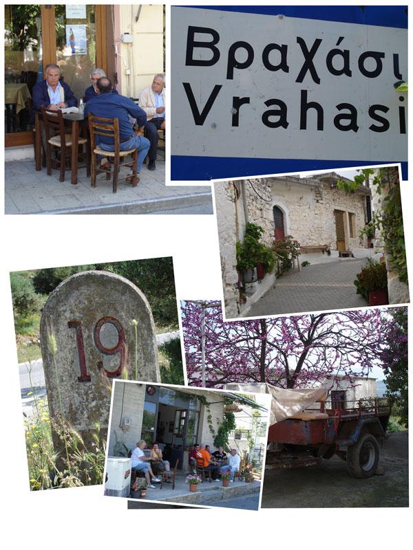 routes op kreta, door vele kleine dorpjes