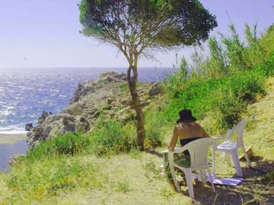 als freelancer werk je op een heel mooi eiland