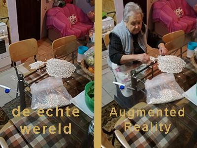 grootmoeder in de Augmented Reality