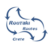 Routaki routes – on Crete Logo
