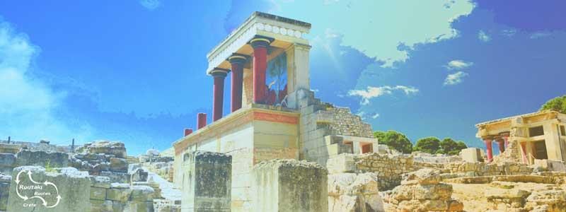 het paleis van Knossos uit de minoische tijd - gelegen ten zuiden van de hoofdstad Heraklion