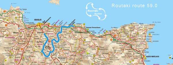 route 59.0 van Routaki - van Kato Gouves naar Knossos