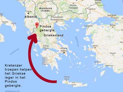 de griekse landkaart ten tijden van oxi dag