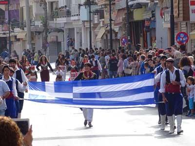 Greek flag as symbol of independence