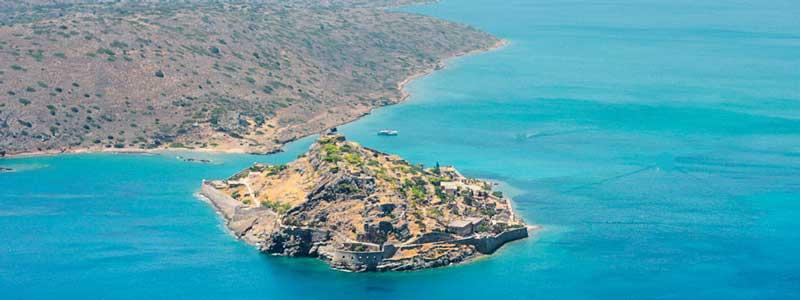 het eiland Spinalonga, wat vanuit Agios Nicolaos te bereiken is