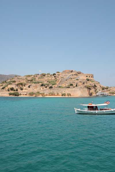 spinalonga can be reached by boat on a daily basis