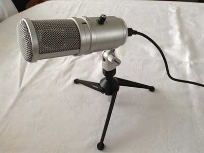 a condenser microphone for better recording of the RAGiF's