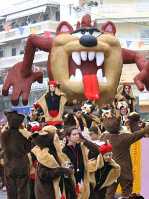 carnaval parade in Rethymnon - picture of 2014