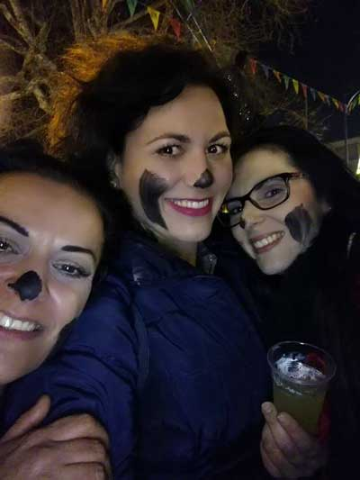 facepainting with charcoal is done, when you don't dress up for carnaval