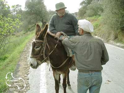 lokaal transport wordt besproken op de wegen van Kreta
