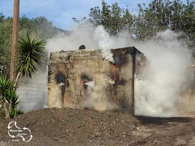 charcoal made from the olive tree wood in specail burn houses