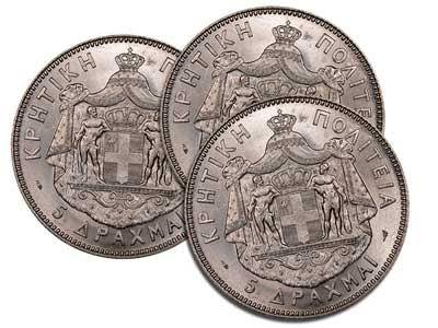 Crete had its own currency between 1898 and 1913