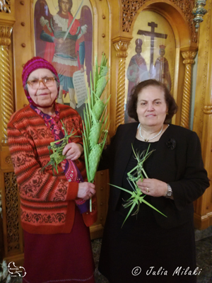 proudly shown, the palm tree crosses on palm sunday