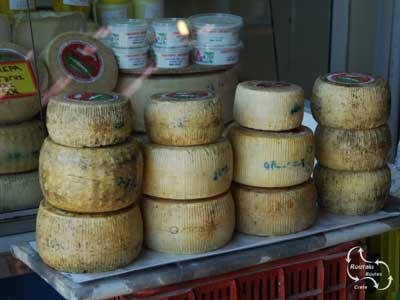 local cheese for sale in the village supermarket