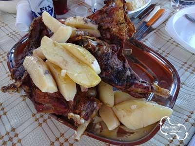 typisch Grieks eten - lam uit de oven