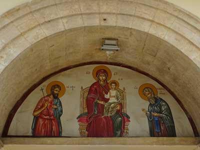 one of the many beautiful frescos
