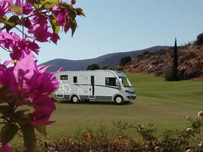 Join me in my mobile home - either on the course or alongside the coast line.