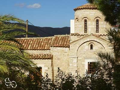 klooster van Myriokefala met zij aanzicht