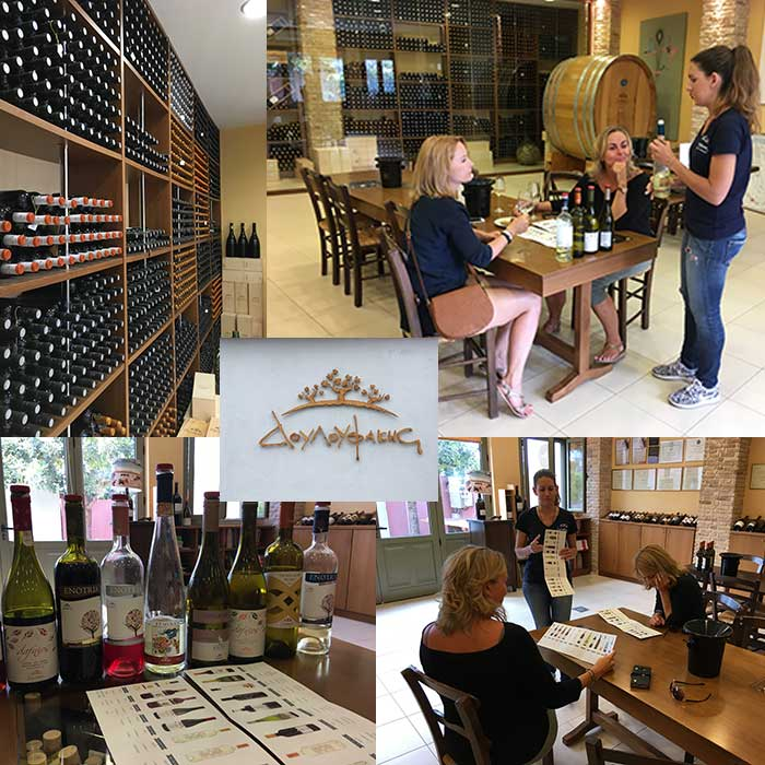 wine tasting in the wine house of the family Douloufakis in Dafnes.