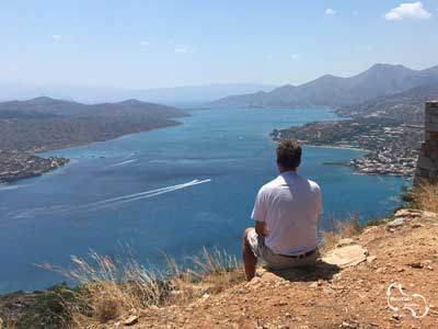 amazing view over the bay of mirabello and spinalonga