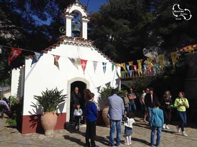 het kerkje bij het selinari klooster waar het icoon van Agios Georgios in bewaard wordt