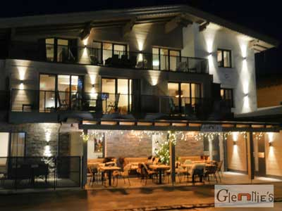 Glennie's restaurant, situated under luxury apartments Kristall Plaza in Niederau
