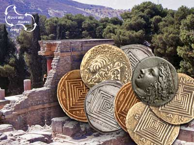 Routaki Coins uses the images of the old Knossos coins