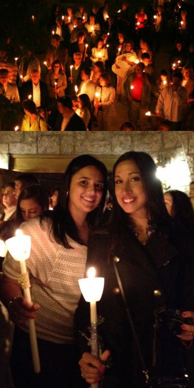het Heilige Licht mee naar huis nemen tijdens Grieks Pasen