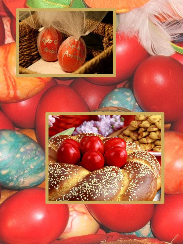 eieren worden rood geschilder op Grote donderdag voor Grieks Pasen