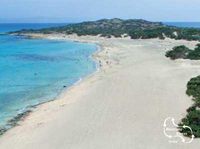 het strand van Chrissy vanuit de lucht bekeken