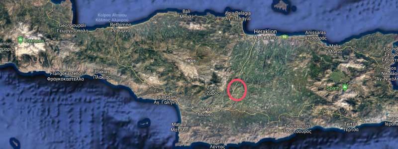 Agia Varvara wordt ook wel de navel van Kreta genoemd, omdat het zo centraal ligt