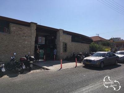 het nieuwe busstation van Heraklion voor lokalen en de toeristen