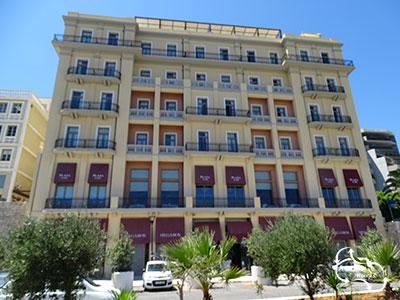 het mooi gerestaureerde Megaron hotel in Heraklion