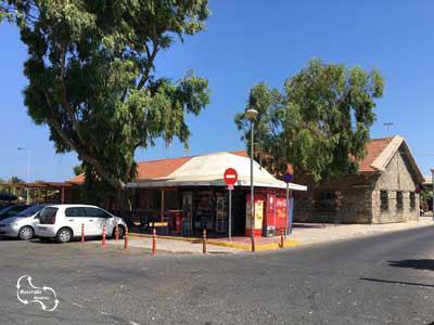 het voormalige KTEL busstation aan de haven laan van Iraklio