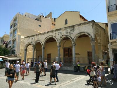 de basiliek van San Marco die tegenwoordig als expositie ruimte wordt gebruikt