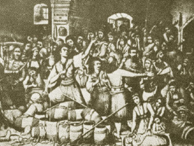 zeer belangrijke opstand in 1866 in het Arkadi klooster