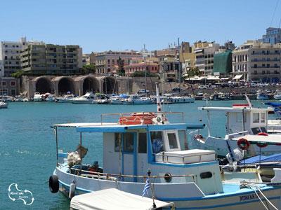 mooi uitzicht over de haven van Heraklion