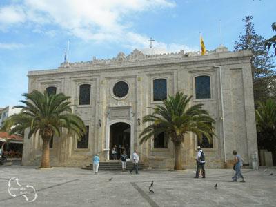 Eén van de meest bijzondere kerken van Heraklion - de Agios Titus kerk