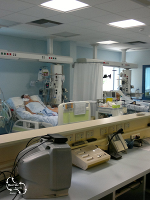 het ziet er allemaal wat minder uit in het ziekenhuis in Iraklio