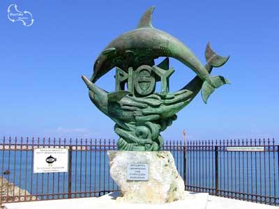 dolfijnen zijn de oorsprong van de naam van Rethymnon