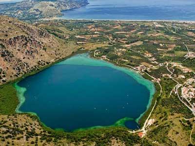 het meer van Kournas op Kreta