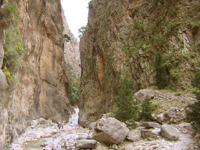 De bekendste kloof van kreta - de samaria kloof