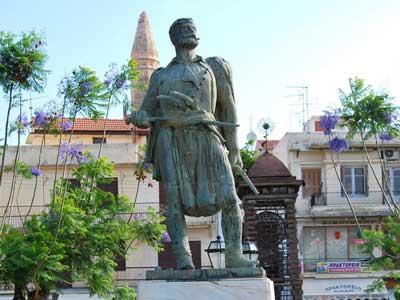 standbeeld van kostis-giampoudakis in Rethymnon