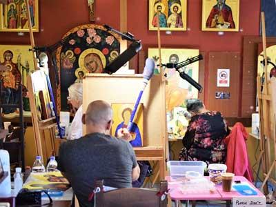 Iconen atelier in Rethymno