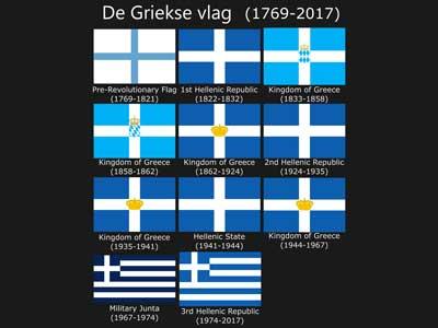 de Griekse vlag en haar geschiedenis