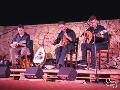 een live optreden met een lier en mandolin