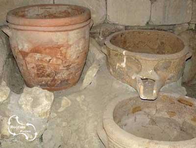 eeuwenoude wijnpers van Vathypetro