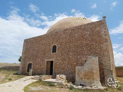De Sultan Ibrahim Han moskee op het fort van Rethymno