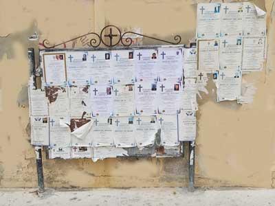 overledenen worden vermelden op deze memorial posters